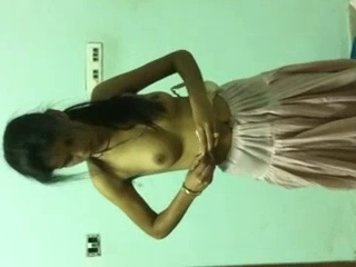 Vid gal 45. Nice indian girlfriend changing in bedroom in front of her bf