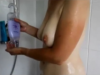 Vid gal 67. Indian wife shruti in shower soaping her tits