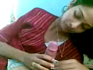 Vid gal 359. Bhabhi sucking her hubby off and strip naked for sex