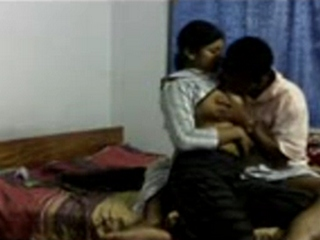 Vid gal 363. Indian college girl with her boyfriend tits sucked and have intercourse