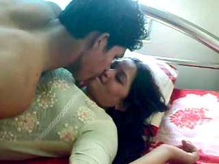 Vid gal 384. Newly married indian couple foreplay fun before sex