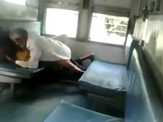 Vid gal 434. Libidinous old indian men make love a raand in train