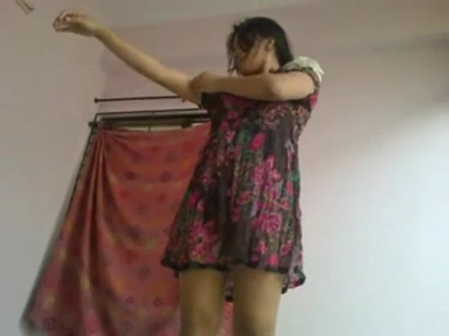 Vid gal 465. Indian gf getting dressed up after having sex with
