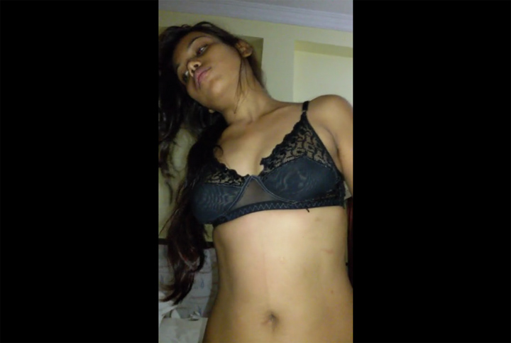 Vid gal 509. Indian gf black lingerie sex